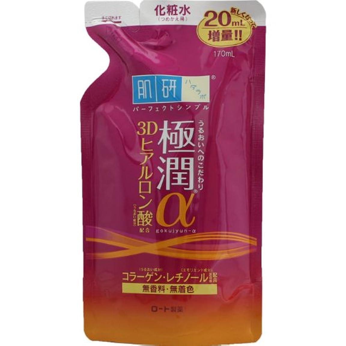 夕食を食べる頑固な電化する肌研(ハダラボ) 極潤 α化粧水 (つめかえ用) 170mL