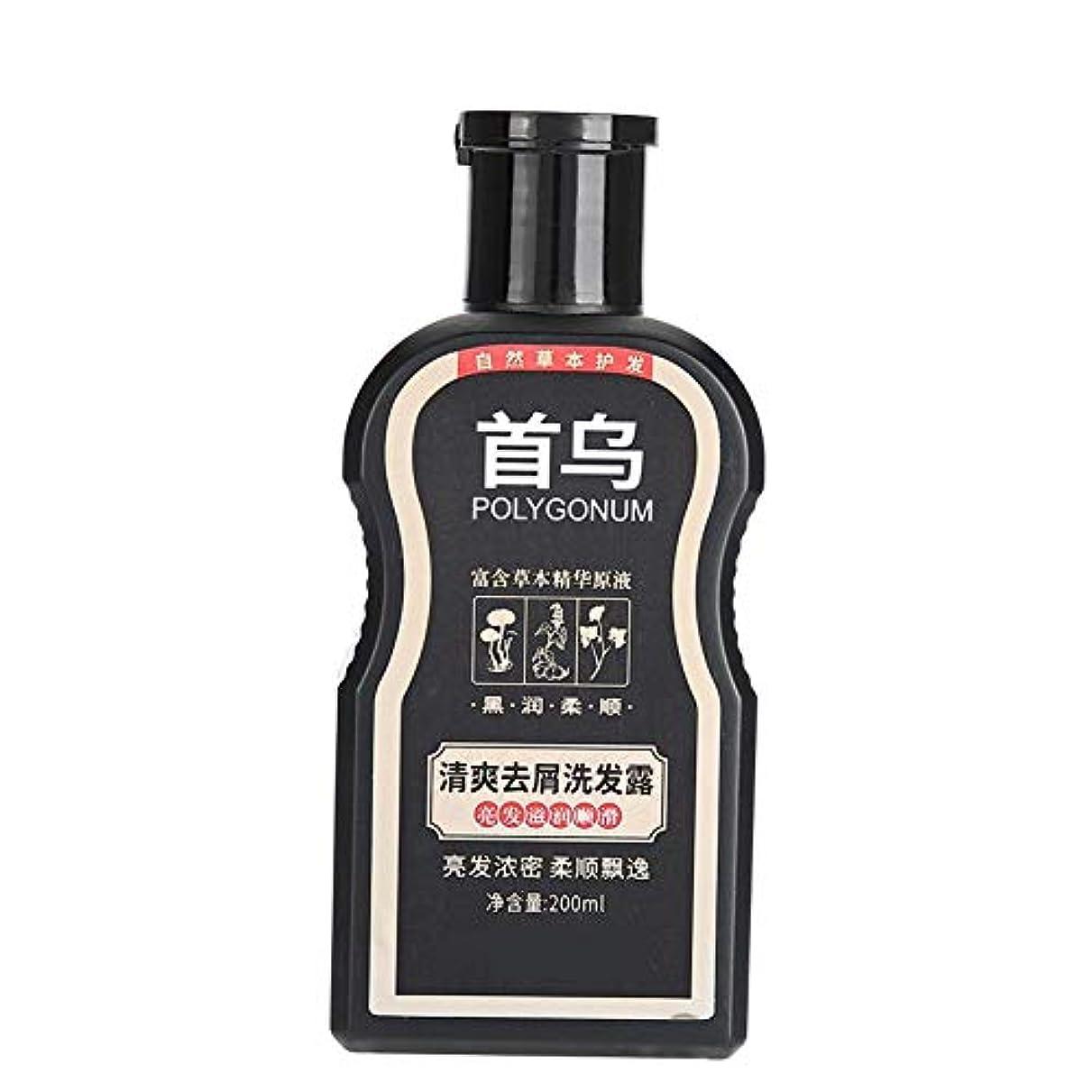 認める発生器価値のないPolygonum Multiflorumシャンプー、ふけ防止掻痒防止200ml、オイルコントロールモイスチャライジングヘアシャンプー、傷んだ髪を養い、修復するため、黒く滑らかに、そして稠密にする