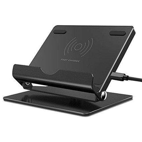 [해외]Qi 무선 충전기 무선 충전기 스탠드 기능 넣으면 충전 가능 급속 충전 각도 조절 회전 가능 iphone 8 | 8plus Galaxy S8 S8 + Note8 등의 QI 대응 기종/Qi Wireless charger Wireless charger stand Function Install only Charging fast charge ang...