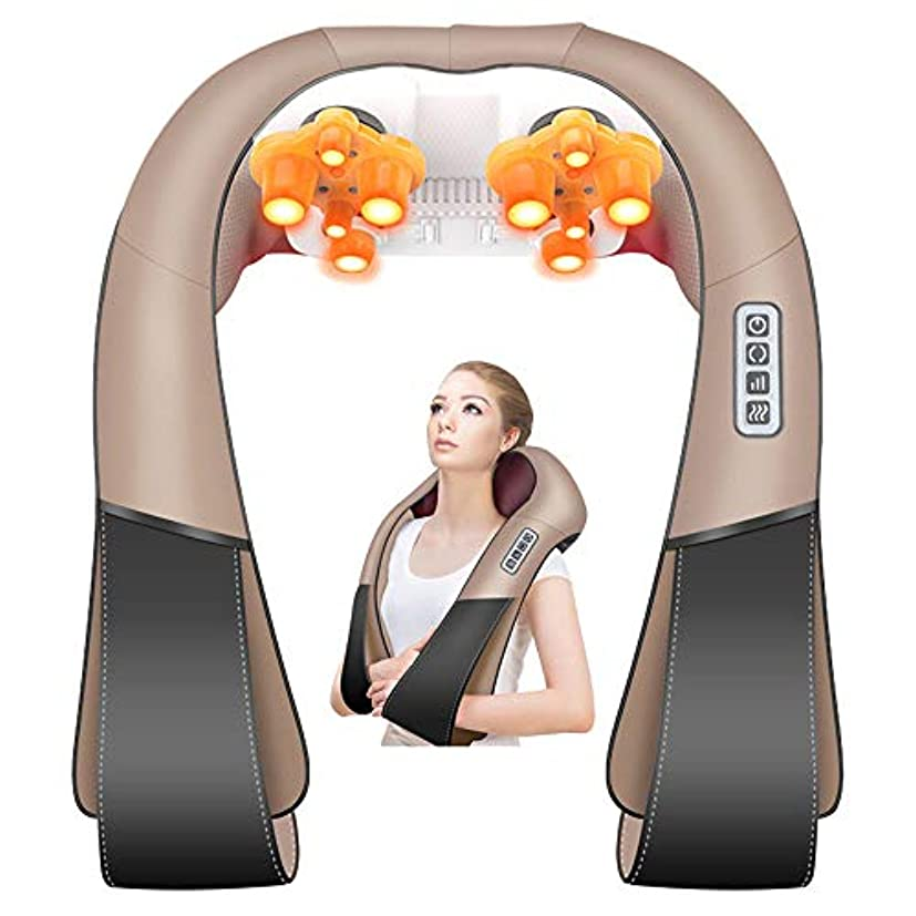背中と首に熱を加えたマッサージティッシュマッサージで筋肉の痛みを和らげます