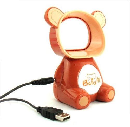 Gramist オリジナル 『ヨッ 涼風の熊さん(^^)/』 ・・・USB接続ダ ソン型扇風機(別売り乾電池でも駆動可) (水色) Gramist