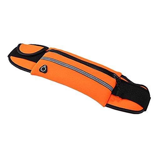 [해외]QIAONAI 허리 파우치 스포츠 야외 패니 달리기 파우치 열쇠 스마트 폰 지갑 수납 런닝 벨트 방수 방지 땀 야간 반사 대용량 다기능 조절 가능 6.0 인치 스마트 폰에 대응 남성 여성/QIAONAI West Porch Sports Outdoor Waist Bag Running Pouch Key ...