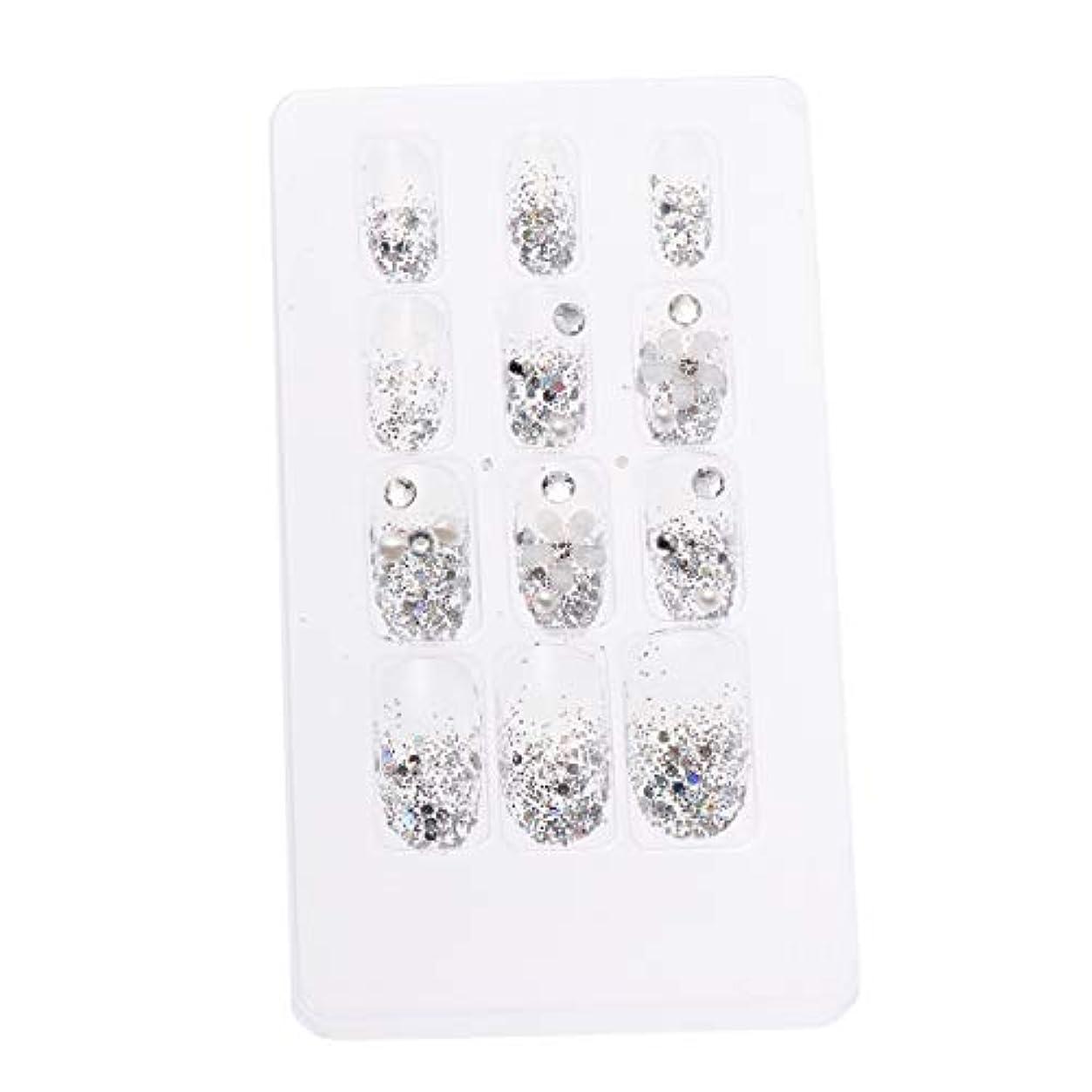 増強提供アーサーLURROSE 24ピースネイルステッカー 人工ダイヤモンド装飾ネイルアート用ブライダル女性