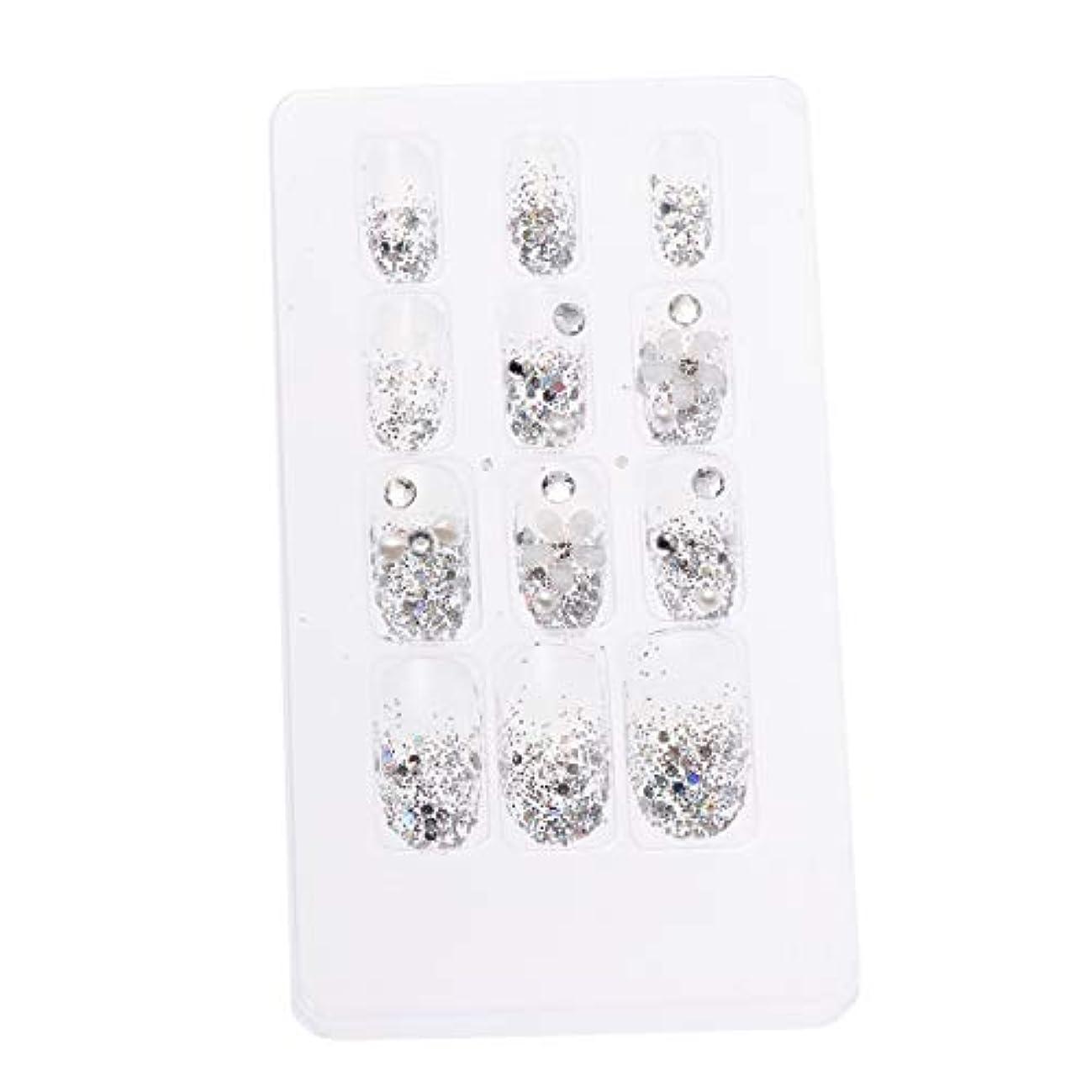 試してみるはしごクレアLURROSE 24ピースネイルステッカー 人工ダイヤモンド装飾ネイルアート用ブライダル女性