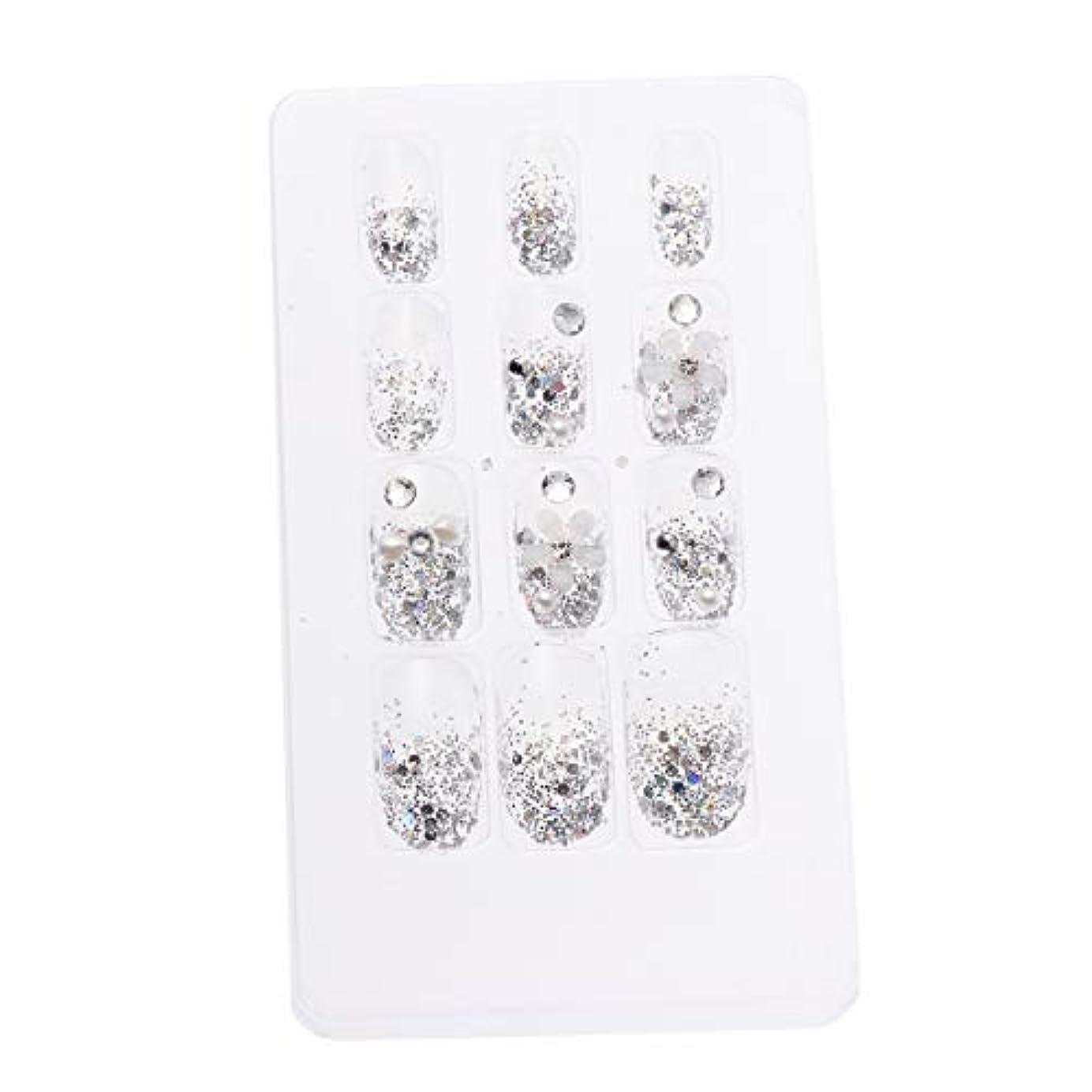 抽出おかしい大きなスケールで見るとLURROSE 24ピースネイルステッカー 人工ダイヤモンド装飾ネイルアート用ブライダル女性
