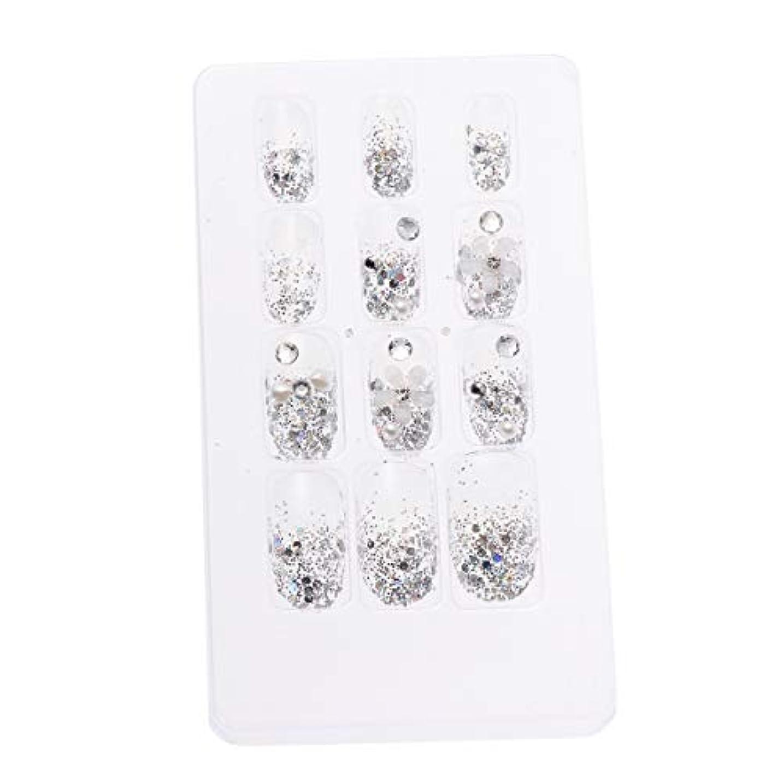 歯車変化するバックアップLURROSE 24ピースネイルステッカー 人工ダイヤモンド装飾ネイルアート用ブライダル女性