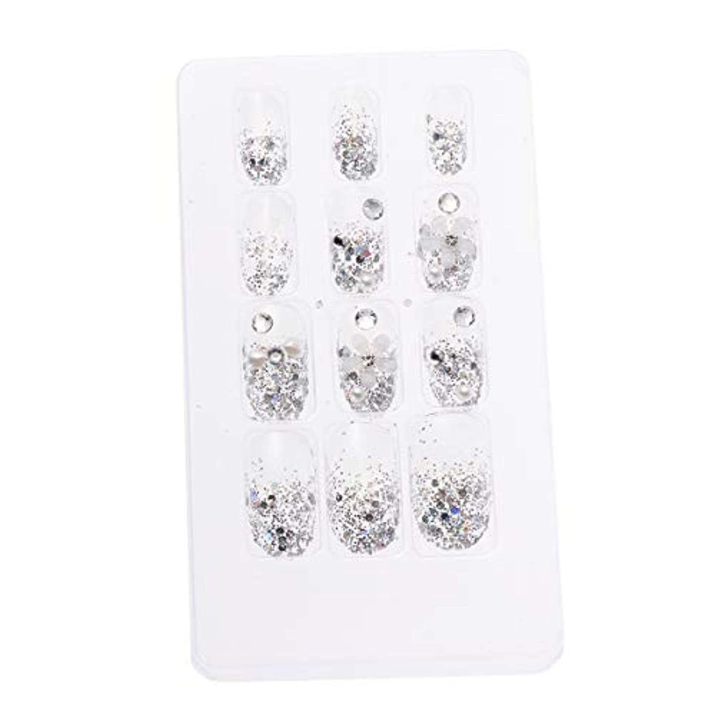 感情節約ジェーンオースティンLURROSE 24ピースネイルステッカー 人工ダイヤモンド装飾ネイルアート用ブライダル女性