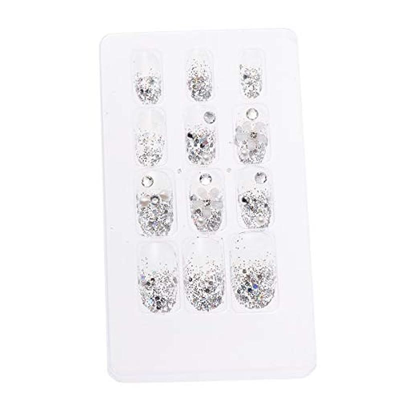 地下室手入れスペインLURROSE 24ピースネイルステッカー 人工ダイヤモンド装飾ネイルアート用ブライダル女性