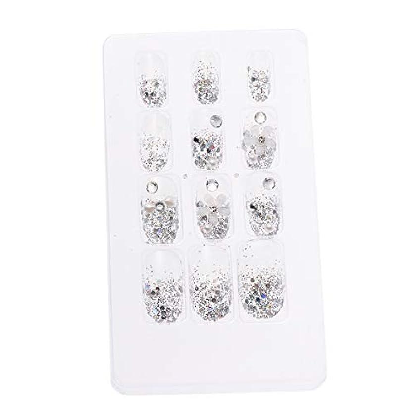 小川幻想インレイLURROSE 24ピースネイルステッカー 人工ダイヤモンド装飾ネイルアート用ブライダル女性