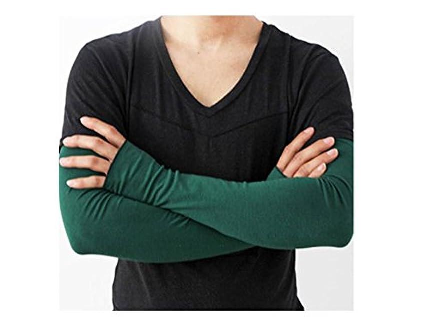 障害元気起きろ日よけ手袋 緑 グレー