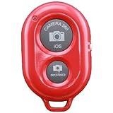 Bluetooth3.4 IOS Androidスマートフォン タブレットPC カメラシャッターリモコンコントロール レッド
