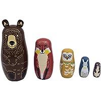 Dovewill 木製 ロシア マトリョーシカ 絵画 人形のおもちゃ 綺麗 女の子 お礼物 - 様式#5