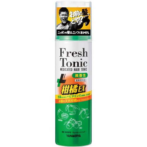 柳屋 薬用育毛フレッシュトニック 柑橘EX 微香性 缶190g
