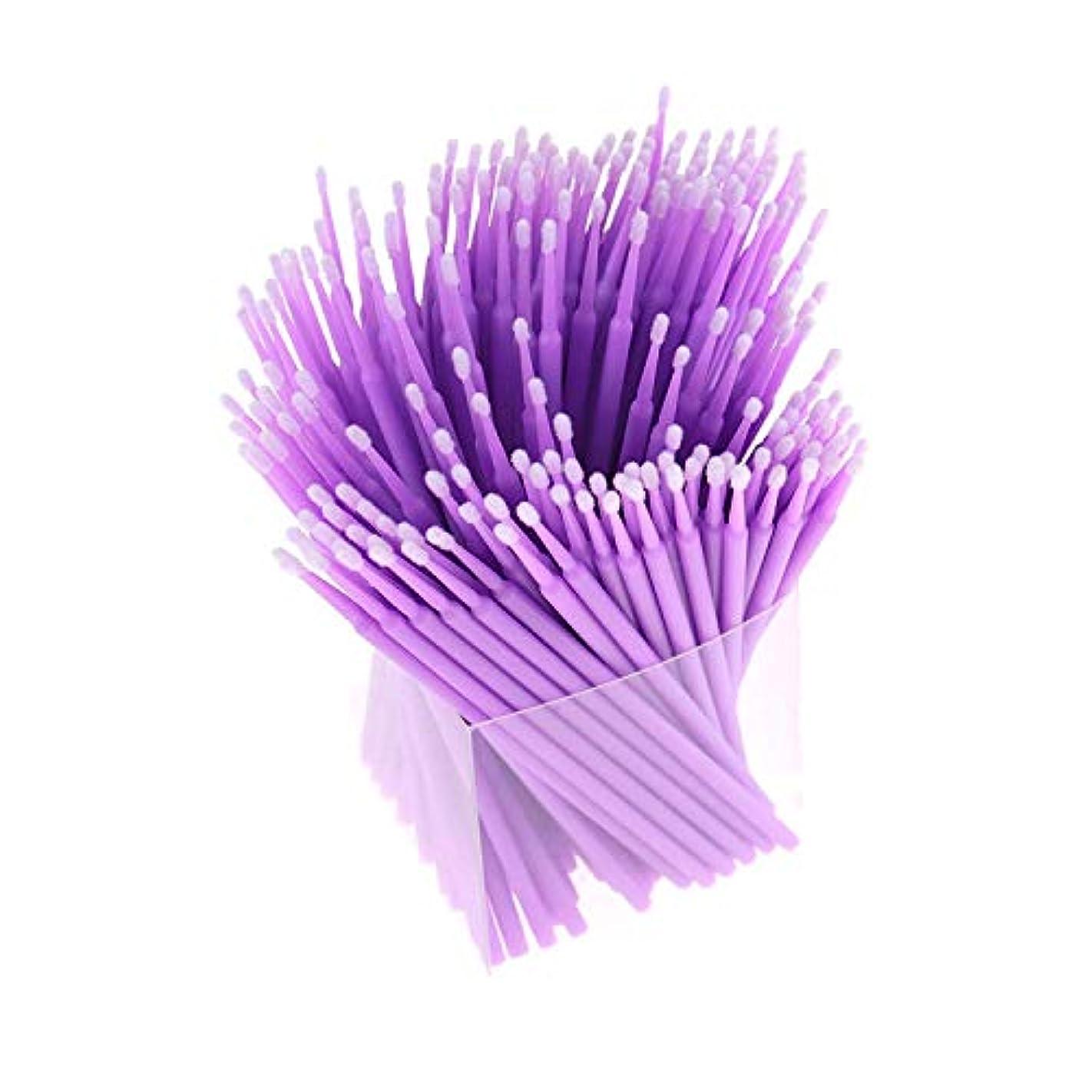 オセアニア提供する南方のCUHAWUDBA 200本、アプリケーター、まつげ用綿棒、マイクロ-ブラシ、使い捨てマイクロ-ブラシ、延長化粧工具-パープル