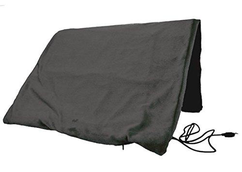 Veroman USB ブランケット ひざ掛け 洗える電気毛布 レディース ブラック