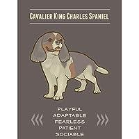 Quote Painting犬文字King Charles Spanielポスターアート印刷lf150