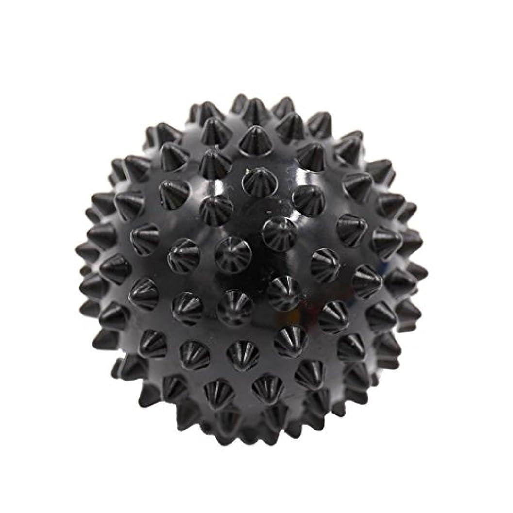 浜辺キャンバスビルマッサージボール マッサージ器 ボディ スパイク マッサージ 刺激ボール 3色選べ - ブラック, 説明したように