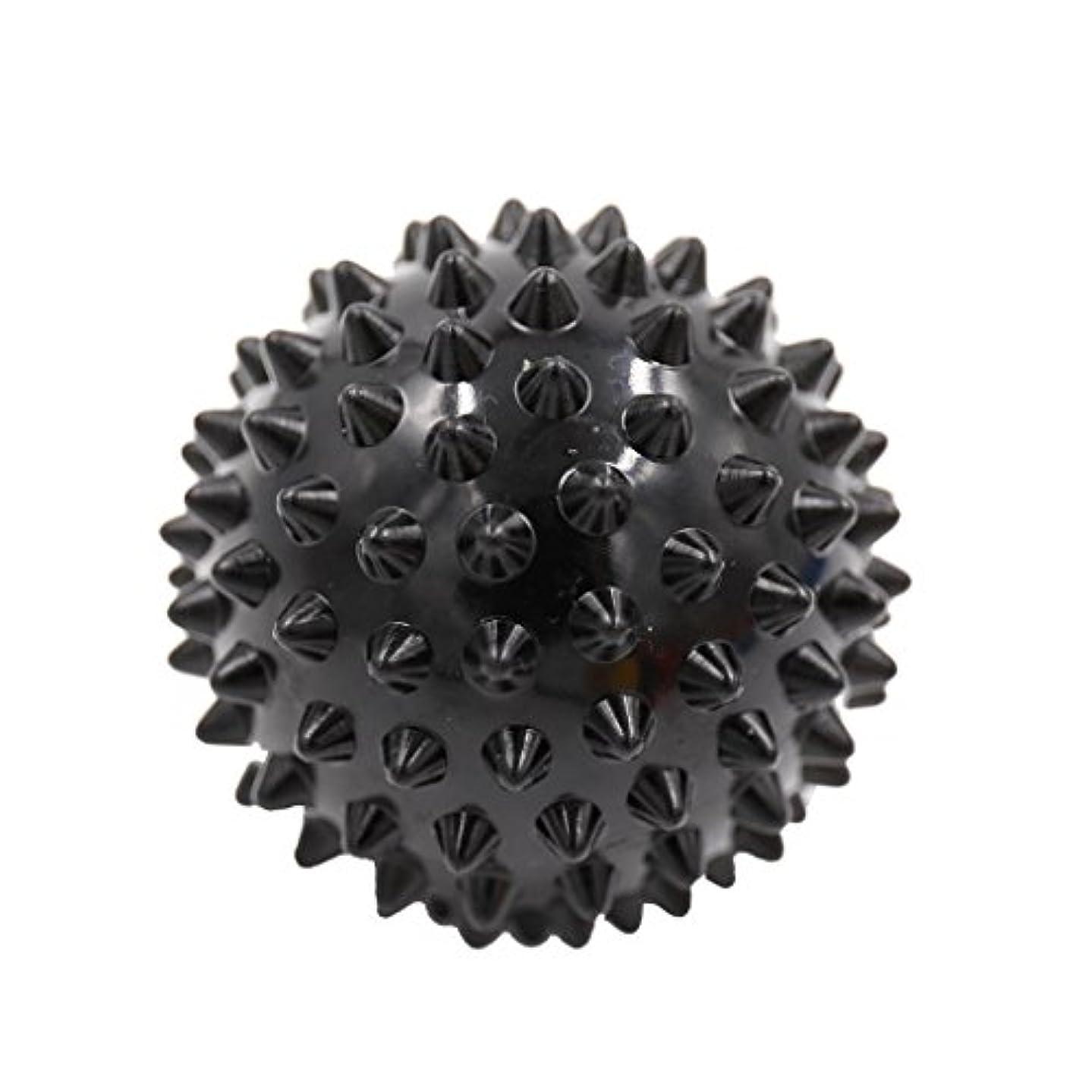 キャプチャー私たちのものどっちでもマッサージボール マッサージ器 ボディ スパイク マッサージ 刺激ボール 3色選べ - ブラック, 説明したように