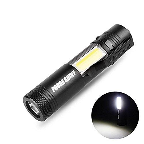 Smilemall LED 懐中電灯 強力 ledライト XM-L Q5+COB LED 作業電燈 1x14500 携帯便利 山登り ライト キャンプ 台風 地震 停電 対策 防災 非常用