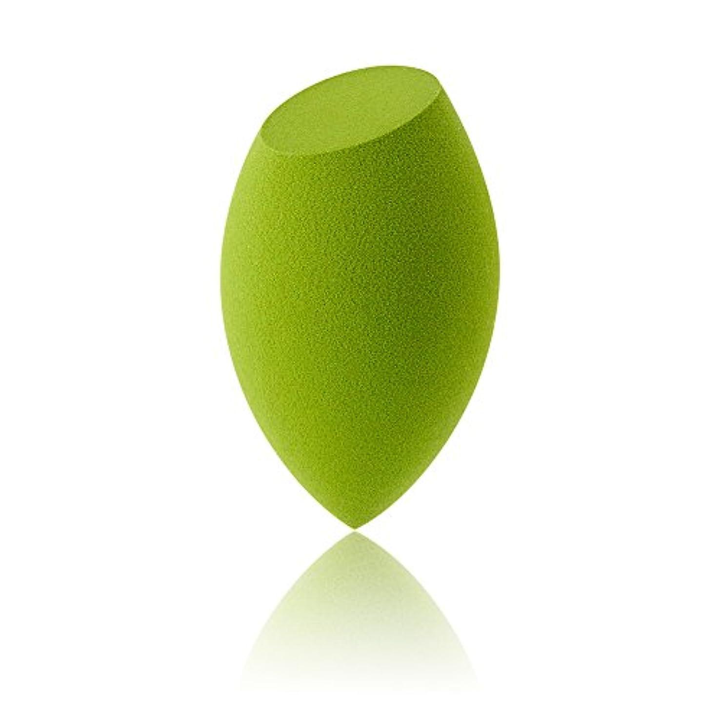 母音論争的に付けるAmeyes メイク用スポンジパフ 乾湿兼用 ふわふわ (斜めカット形/緑)