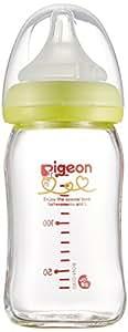 ピジョン Pigeon 母乳実感 哺乳びん 耐熱ガラス製 ライトグリーン 160ml 0ヵ月から おっぱい育児を確実にサポートする哺乳びん