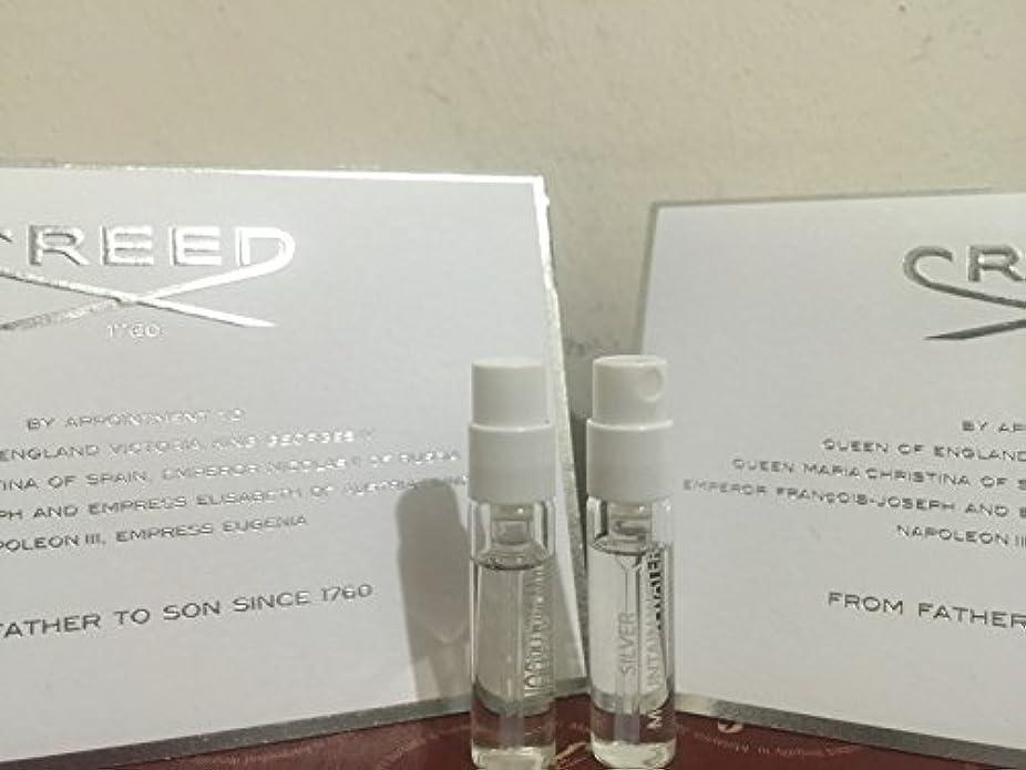 つかむフラグラントのためにCreed Silver Mountain Water (クリード シルバー マウンテン オウーター) 0.08 oz (2.5ml) サンプル Vial 2本組 for Men