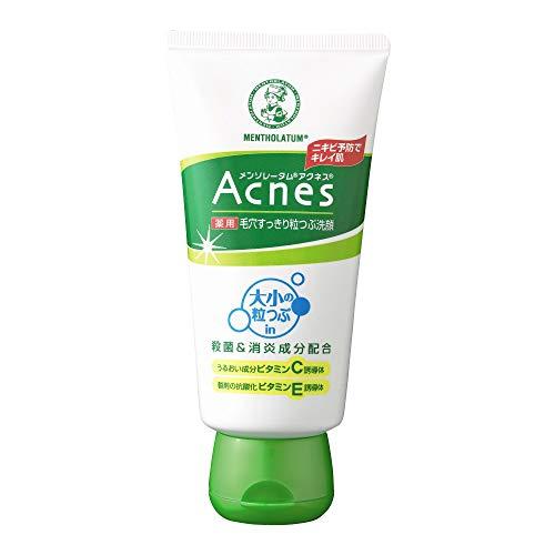 【医薬部外品】メンソレータム アクネス ニキビ予防薬用 毛穴 すっきり 粒つぶ 洗顔 130g