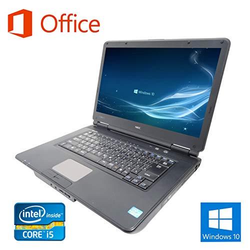 【Microsoft Office 2016搭載】【Win 10搭載】NEC VK25/次世代Core i5 2.5GHz/新品メモリ:4GB/HDD:250GB/DVDドライブ/HDMI/大画面15.6インチ/無線LAN/中古ノートパソコン (HDD:250GB)