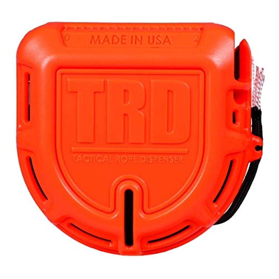 シチリア熟読ロイヤリティTRD – タクティカルロープとパラコードディスペンサーとカッター – 50フィート550パラコード – オレンジ