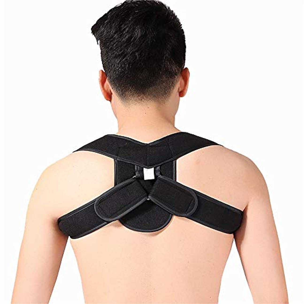 女性&男性用衣服の下で効果的で調節可能なショルダーベルト (色 : ブラック, サイズ : L)