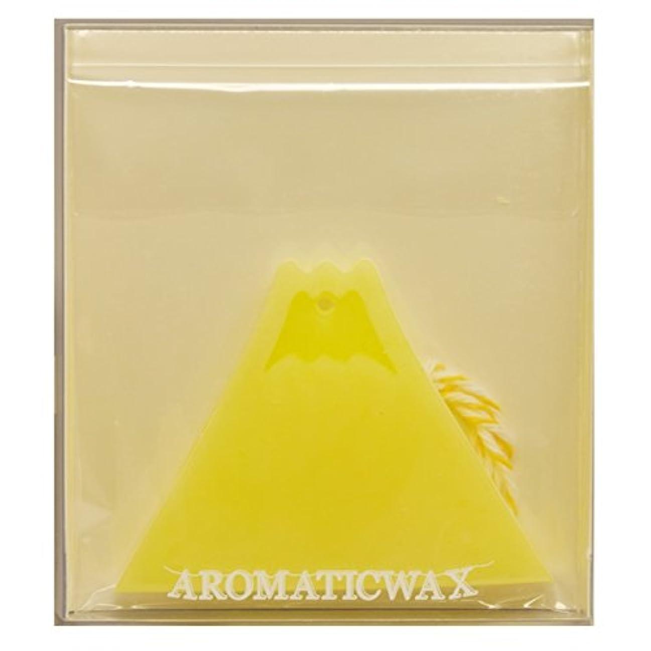 またね確認するミリメートルGRASSE TOKYO AROMATICWAXチャーム「富士山」(YE) ベルガモット アロマティックワックス グラーストウキョウ