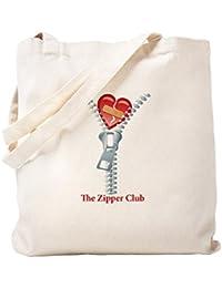 CafePress – the Zipper Club – ナチュラルキャンバストートバッグ、布ショッピングバッグ S ベージュ 1272056962DECC2