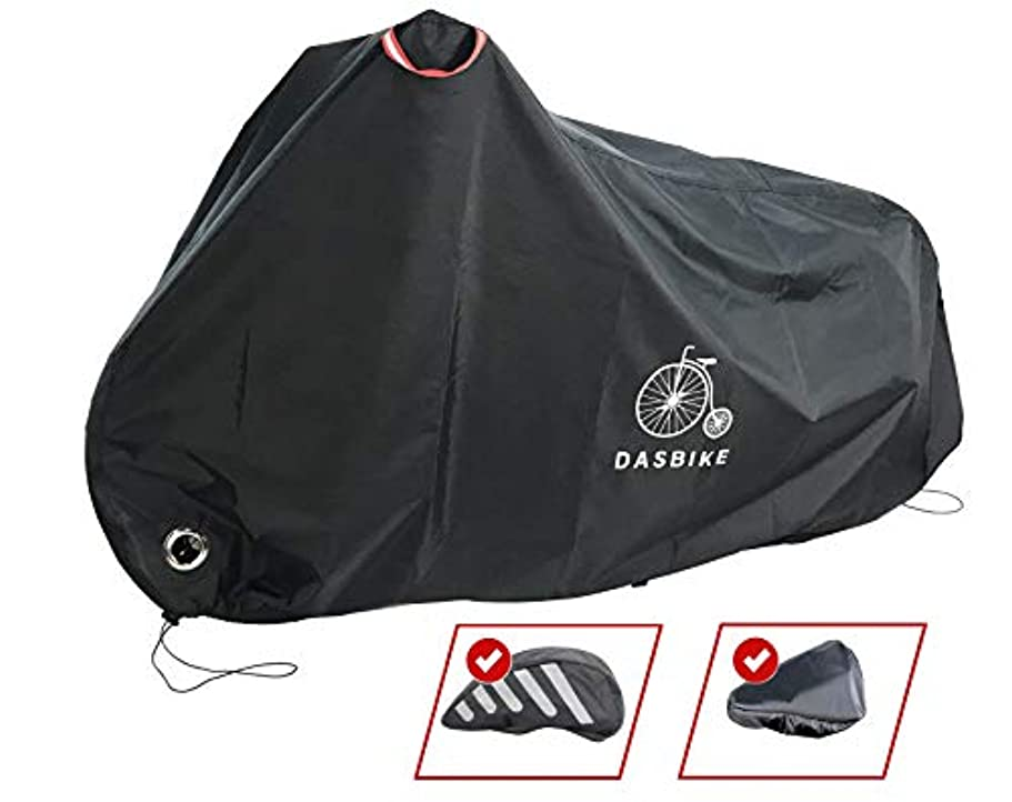 狂信者優しい荒野DasBike 防水バイクカバー ヘルメットとシートカバー付き。 アウトドア収納自転車カバー 高耐久素材 UV、雨、雪、埃。 あらゆる気象条件から保護。
