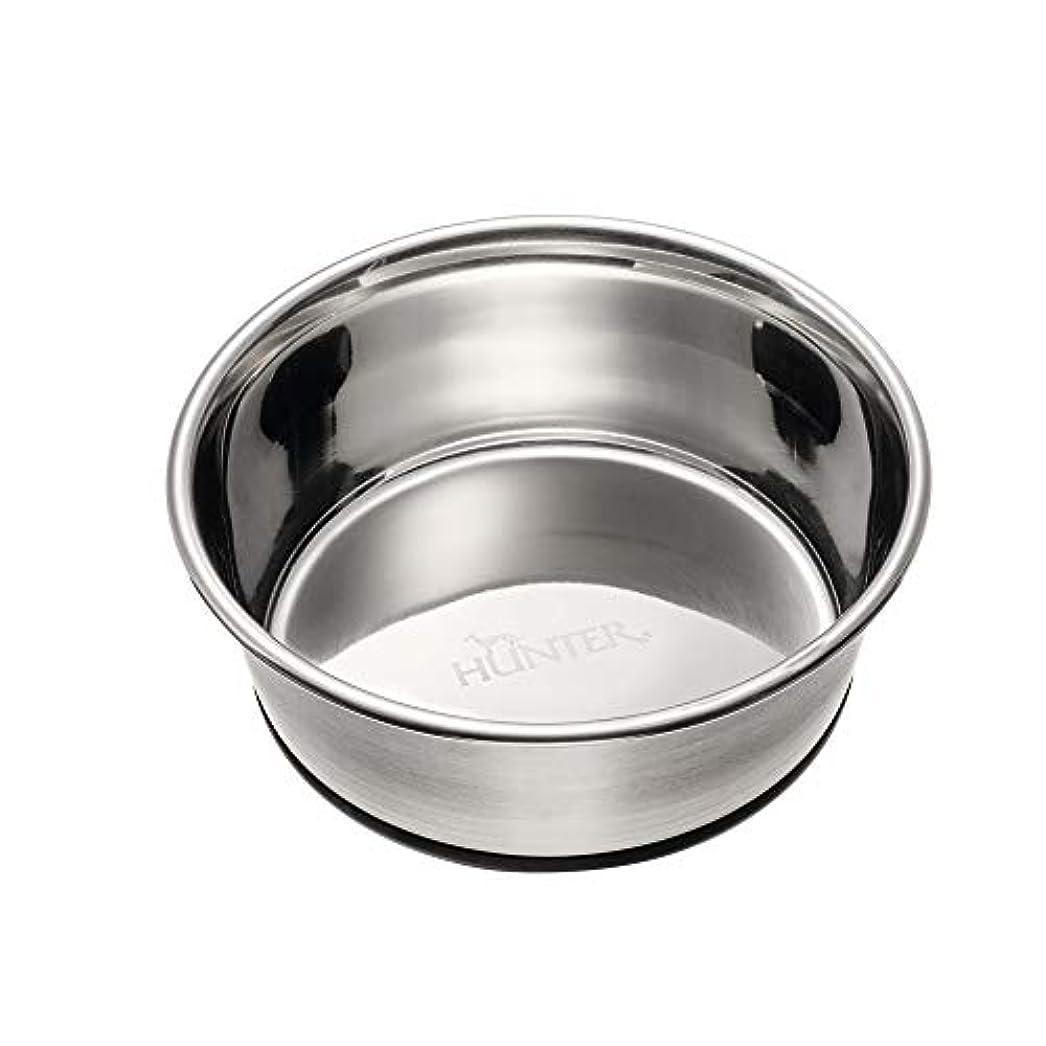 HUNTER ステンレス ボウル M 550ml 犬 猫 ペット用 滑り止めゴム付き フードボウル 食器 エサ入れ (41712)