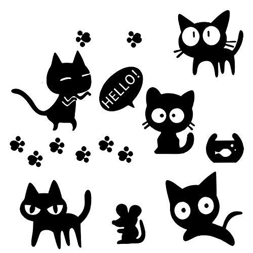 NIUAO 車用 ステッカー 猫 ねこ かわいい おもしろ ...