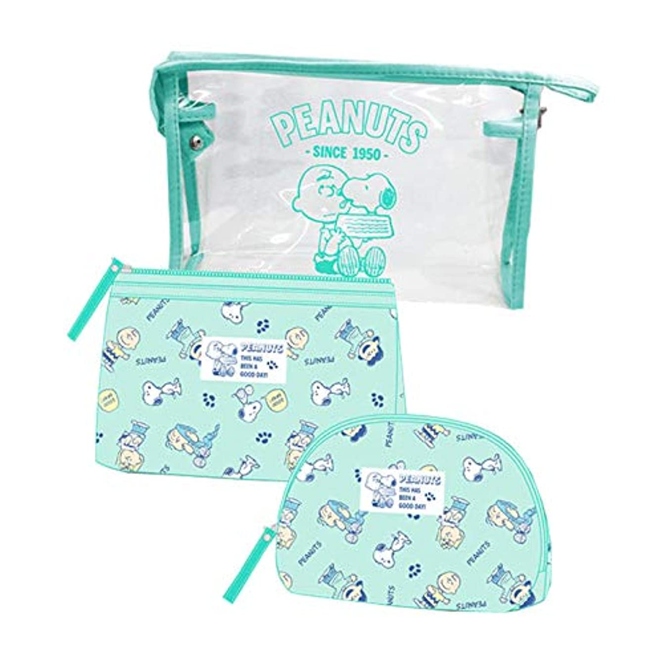 差し引くどうやら猫背【SNOOPY】 スヌーピー コスメ ポーチ 3点セット + ミニタオル セット ケース 化粧 バッグ 大容量