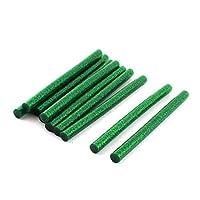 7ミリメートルX 100ミリメートルダークグリーングリッターホットメルト接着剤の接着剤スティック10個