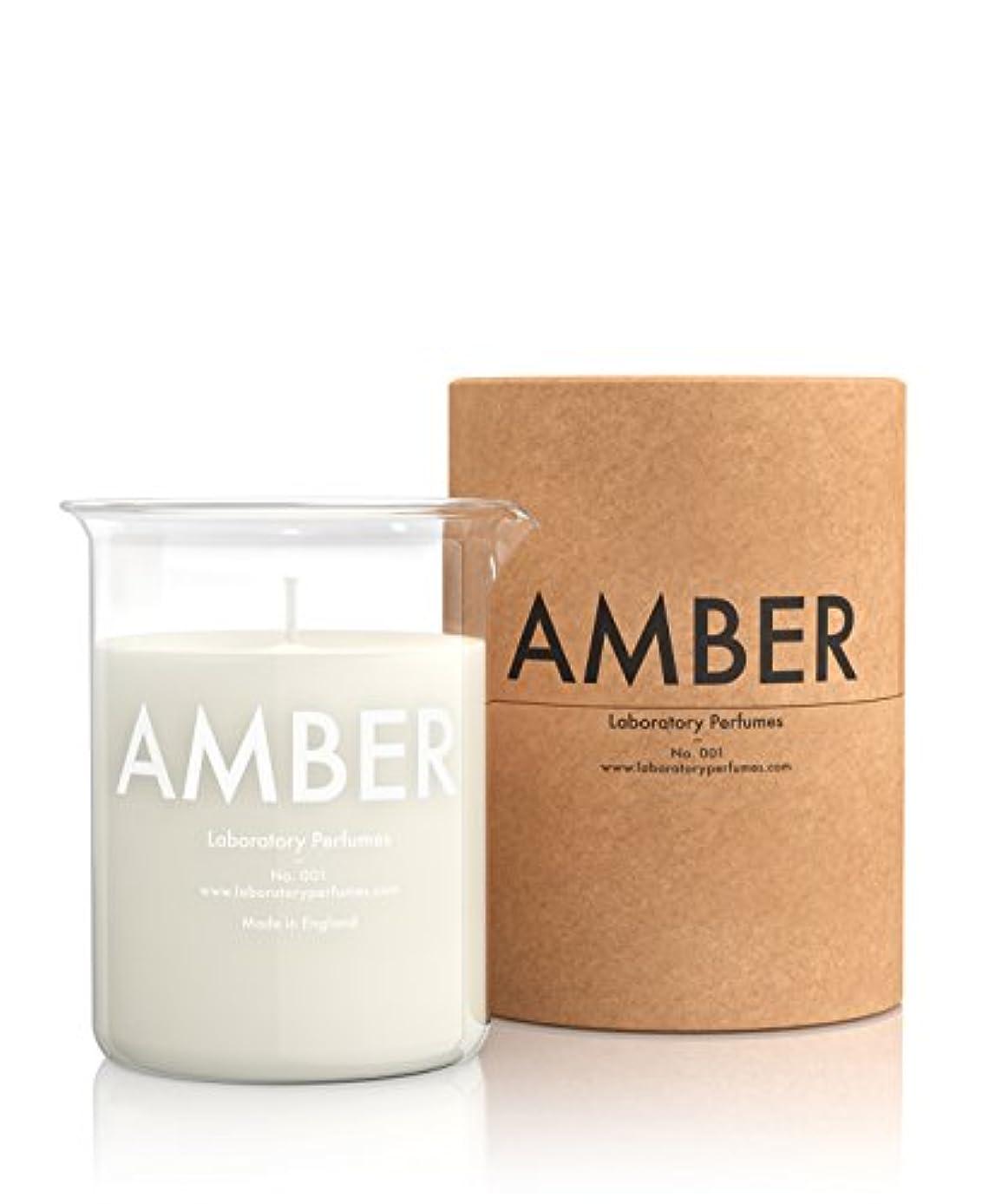カフェテリア策定する確率Labortory Perfumes キャンドル アンバー Amber (フローラルウッディー Floral Woody) Candle ラボラトリー パフューム