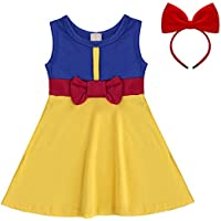 Princess Costume Mermaid Snow White Mouse Cartoon Fancy Dress Up Baby Toddler Girl Summer Clothes 4-5 Years