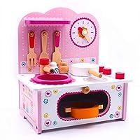 UniM 木製キッチンプレイセット 幼児用 キッチンプレイセット おままごと調理 おままごとセット 木製調理器具セット 3歳以上