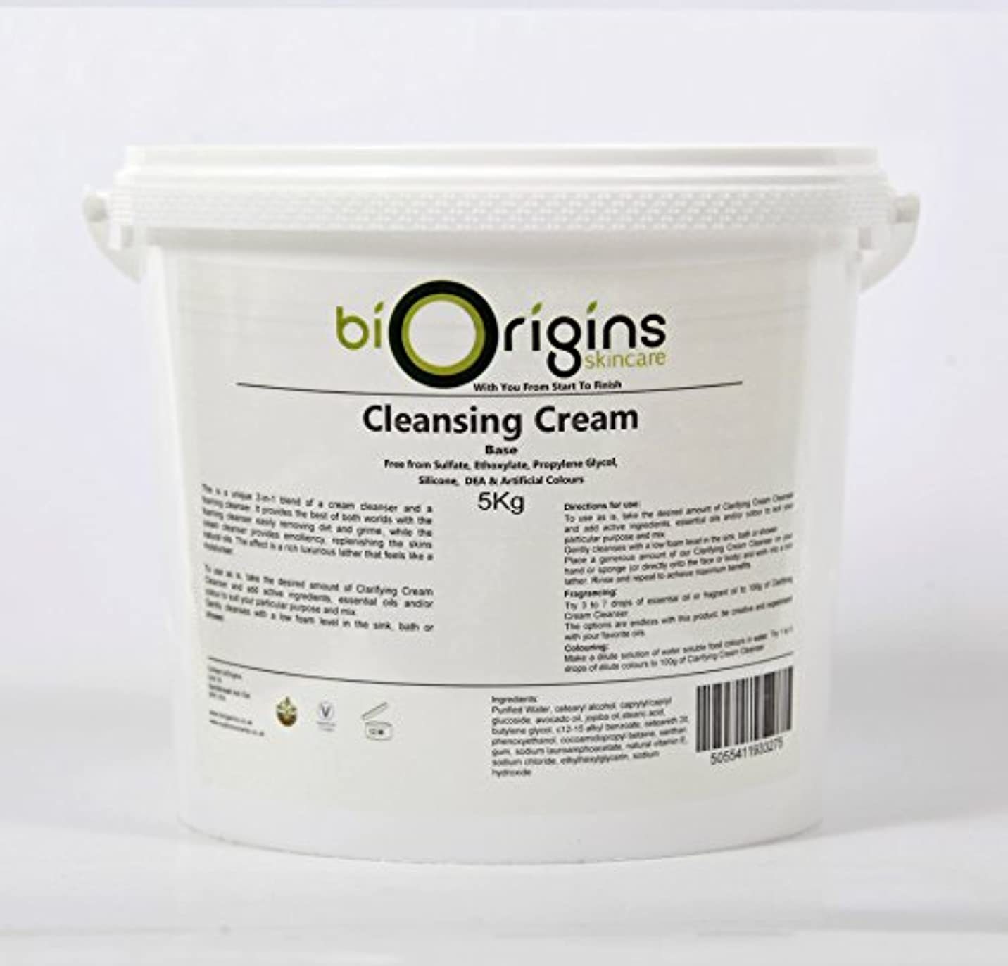 オーバーヘッド教えてモットーClarifying Cleansing Cream - Botanical Skincare Base - 5Kg