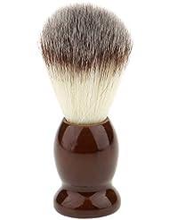 (非ブランド品)ナイロン製 シェービングブラシ 柔らかい 理容 洗顔 髭剃り 便携 10.5cm ブラウン