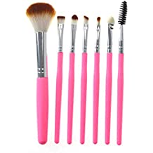 7pcs Travel Cosmetic Makeup Make Up Brushes Set With Pouch Bag Case (Pink)