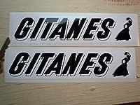 Gitanes French Cigarette Oblong Sticker ジタン ステッカー シール デカール 202mm x 45mm 2枚セット [並行輸入品]