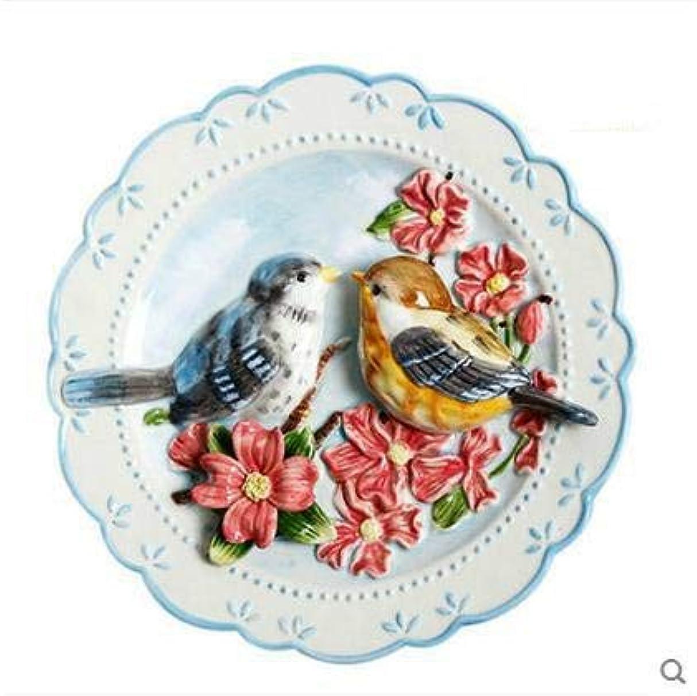 ただやる聖人希望に満ちたWOAIPG 磁器 鳥愛好家装飾壁料理磁器装飾プレートヴィンテージ家の装飾工芸品部屋の装飾置物