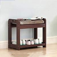 YCT 純木の靴のベンチ、玄関スツール、家の靴、靴箱、収納スツール。 (Color : 3)