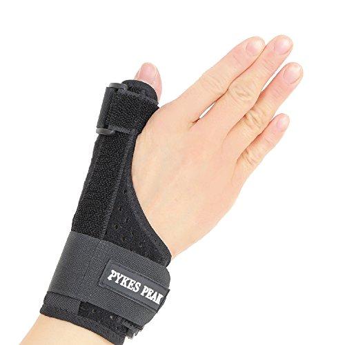 PYKES PEAK 親指サポーター メッシュ素材 親指 通気性 ばね指 腱