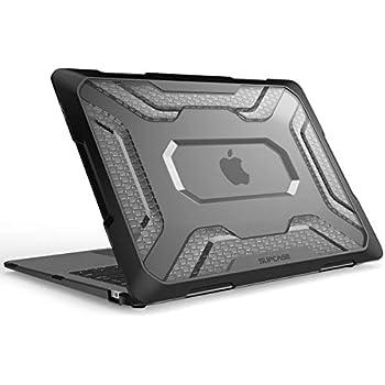 SUPCASE MacBook Air 13インチ ケース 2018 Release 耐衝撃 保護 シェルカバー (Black) (黒)