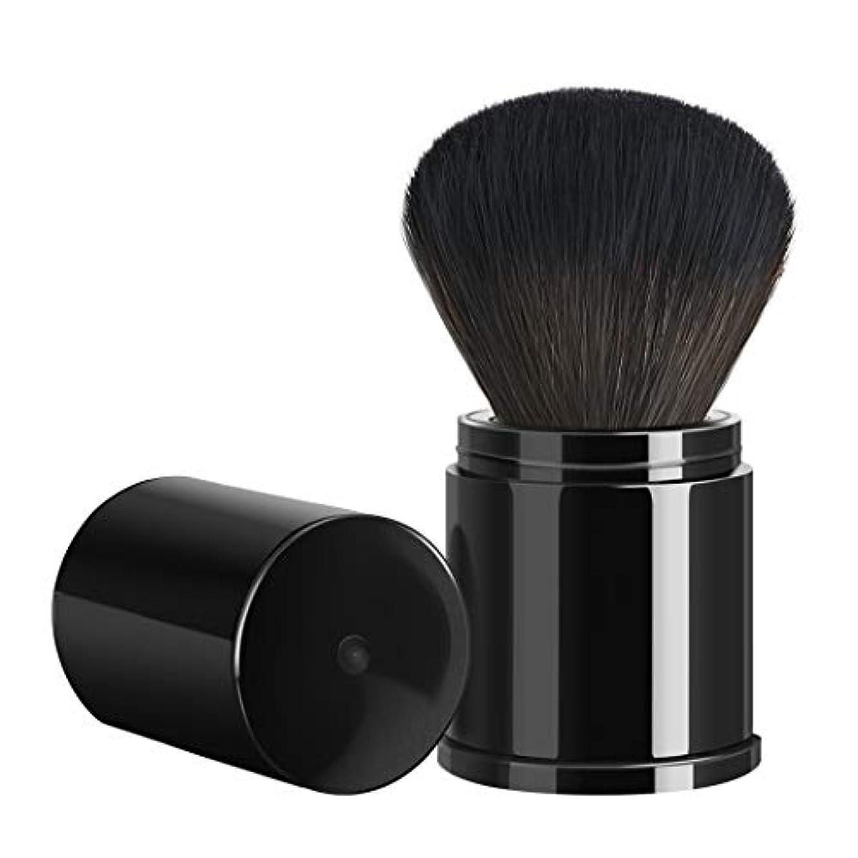BLDファンデーションブラシ フェイスブラシ 伸縮式化粧筆 持ち運び便利 携帯用化粧筆用具 新型伸縮メイクブラシ