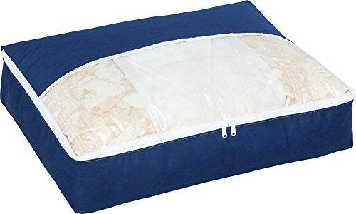 アストロ 羽毛布団収納ケース スリム 紺色 かさばる羽毛布団をコンパクトに収納できます!  131-...